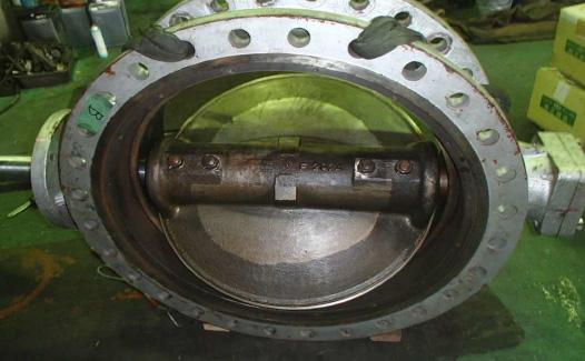 バタフライバルブ修理